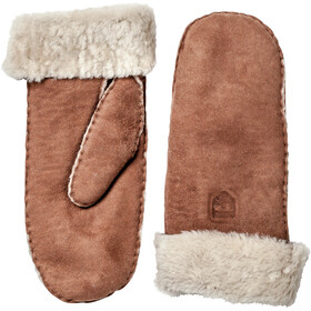 Hestra Sheepskin Mittens Dame brown